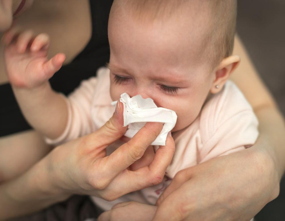 If your baby develops allergies, it can cause increased fussiness.